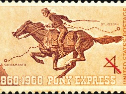 Pony Express herdenkings postzegel