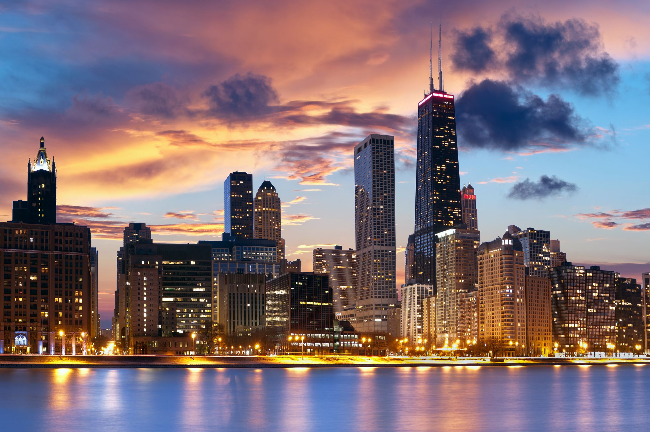 Chicago, the Windy City in Illinois