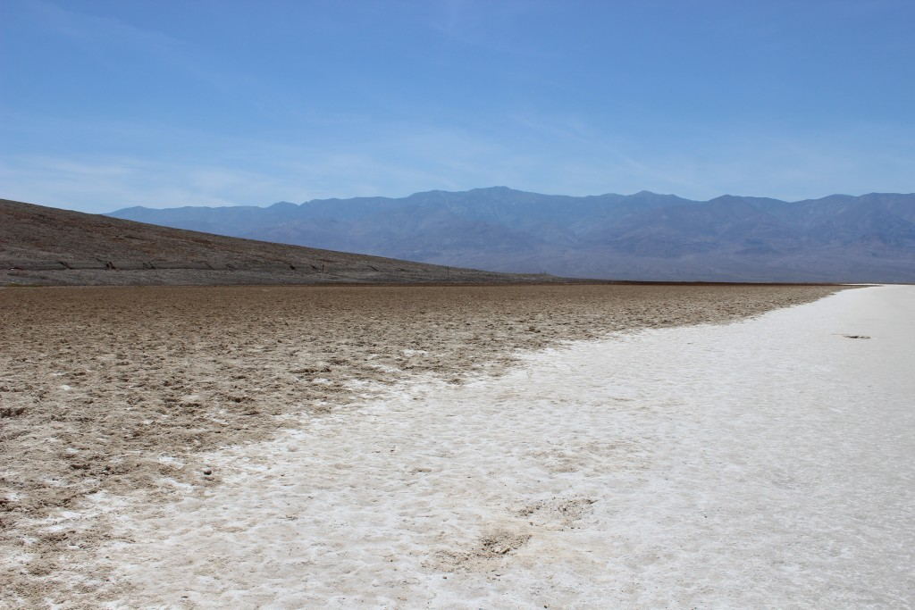 Zoutvlaktes in Amerika: Badwater Death Valley