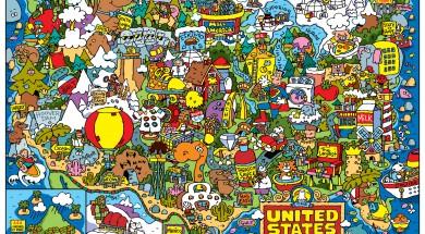 Bezienswaardigheden in Amerika: een leuke kaart van Dave Garbot