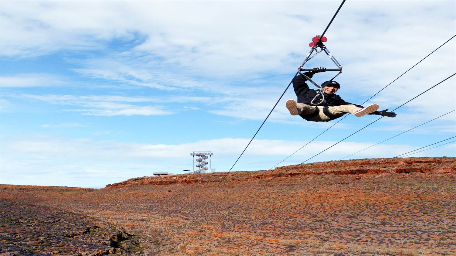 Grand Canyon zipline in Grand Canyon West
