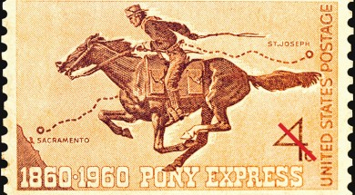 Pony Express herdenkings postzegel