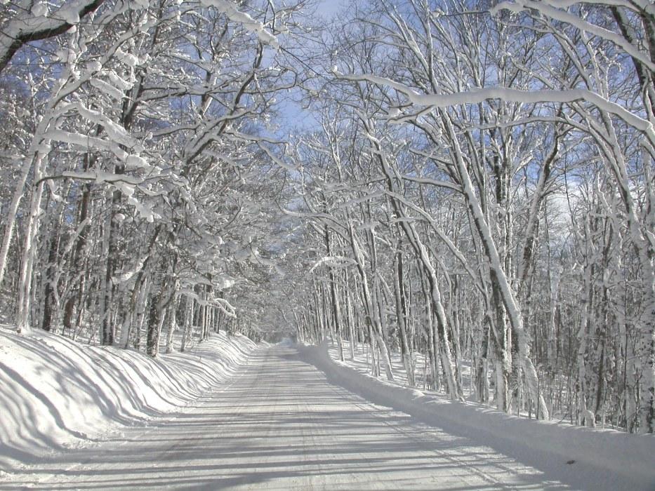 sneeuw in Michigan