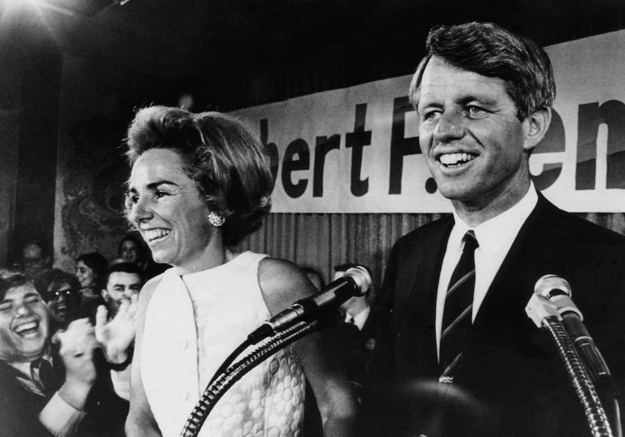 Bobby Kennedy en Ethel