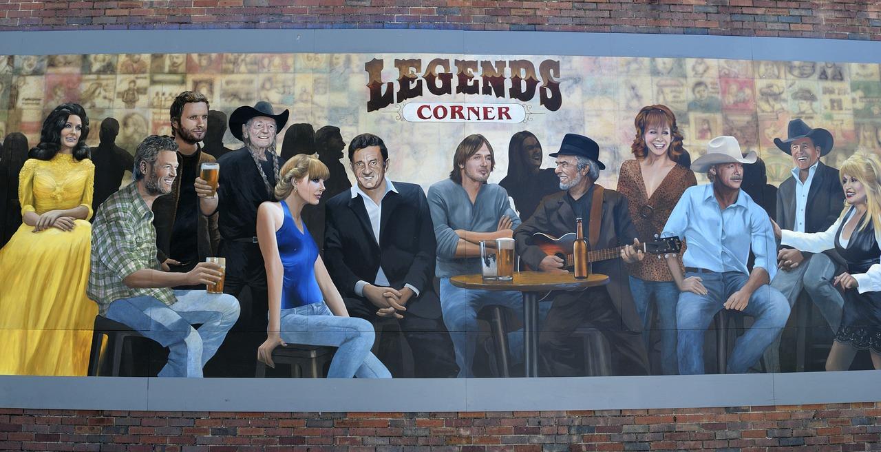 legends corner mural