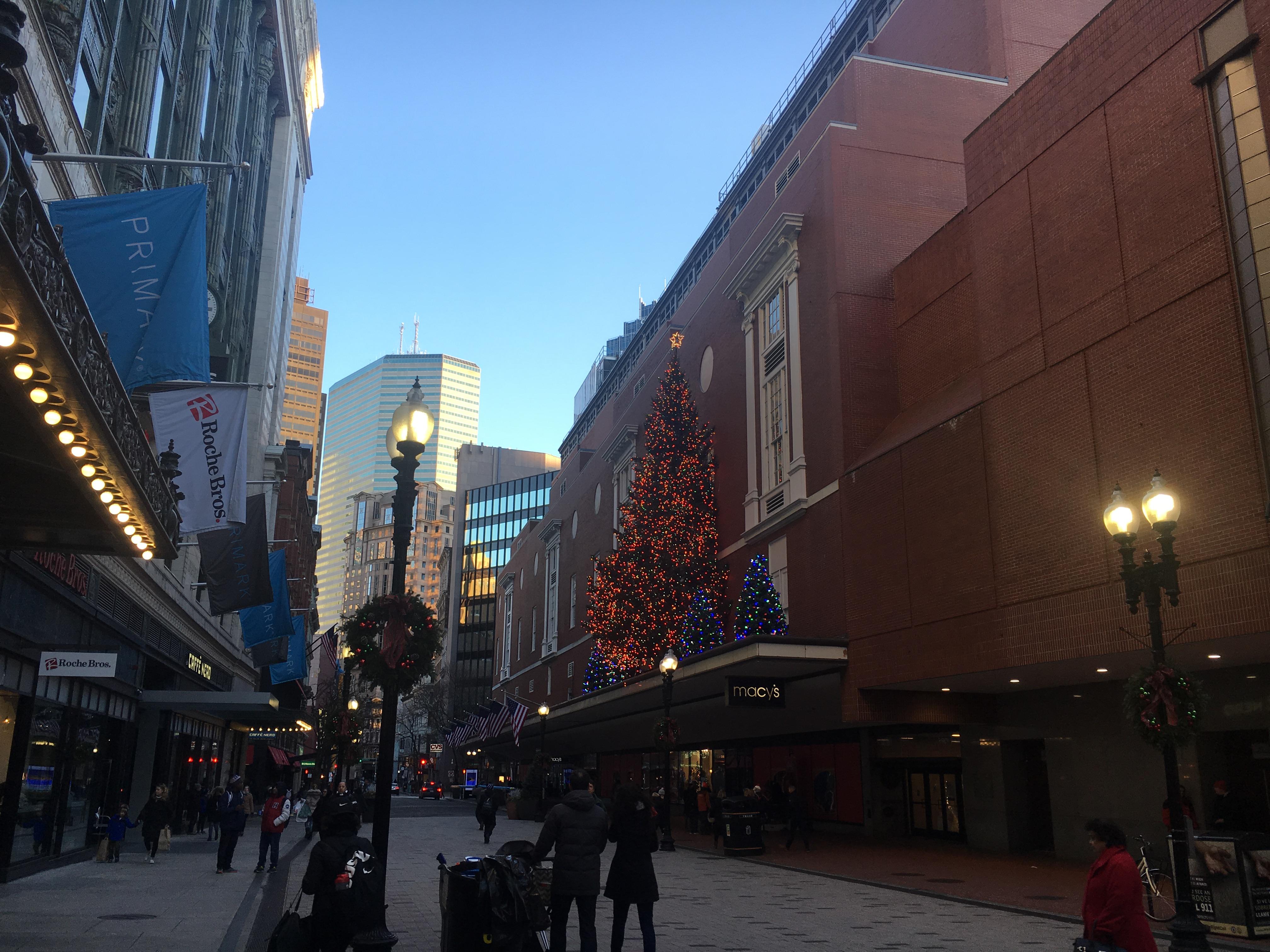 boston met kerst