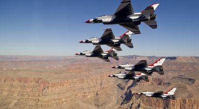 vliegshow in Amerika
