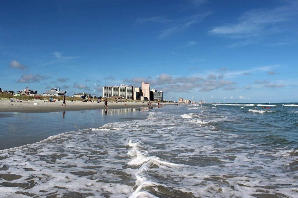 myrtle beach strand en zee