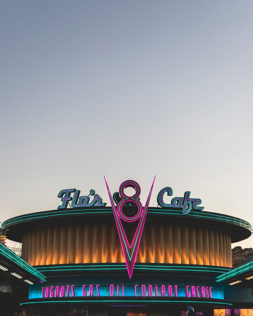 Flo's V8 Café in Disneyland Park in Disneyland Resort californië