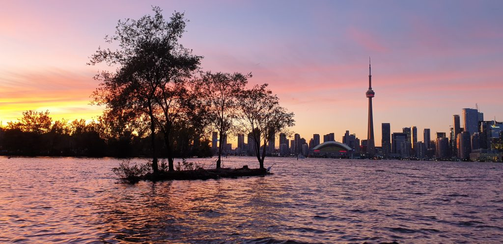 skyline toronto vanaf de toronto islands