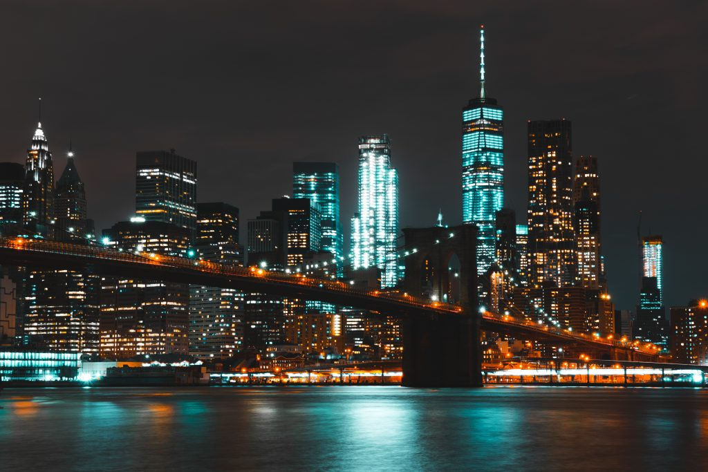 brooklyn bridge en manhattan skyline